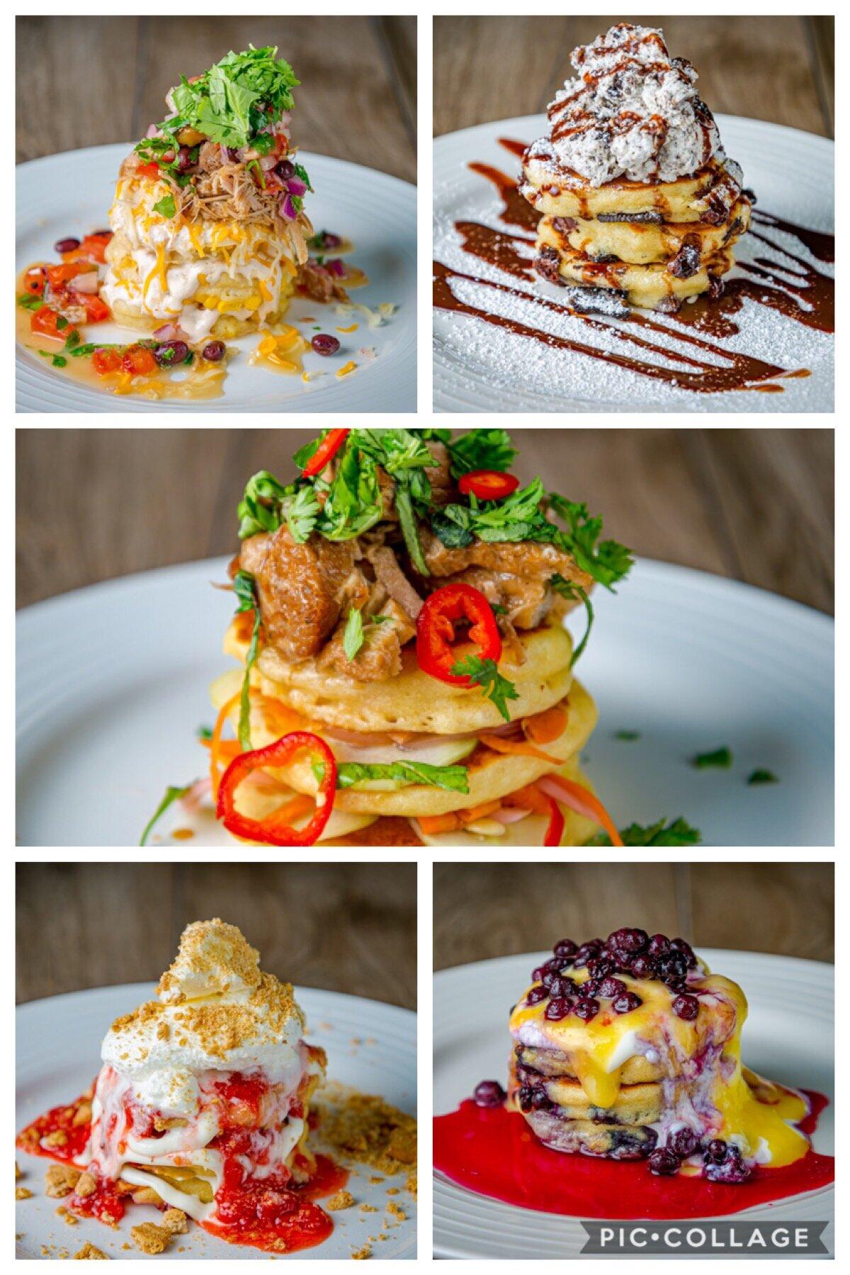 Sample pancakes from Jealous Fork.  Photo Courtesy of Joaquin Ortiz