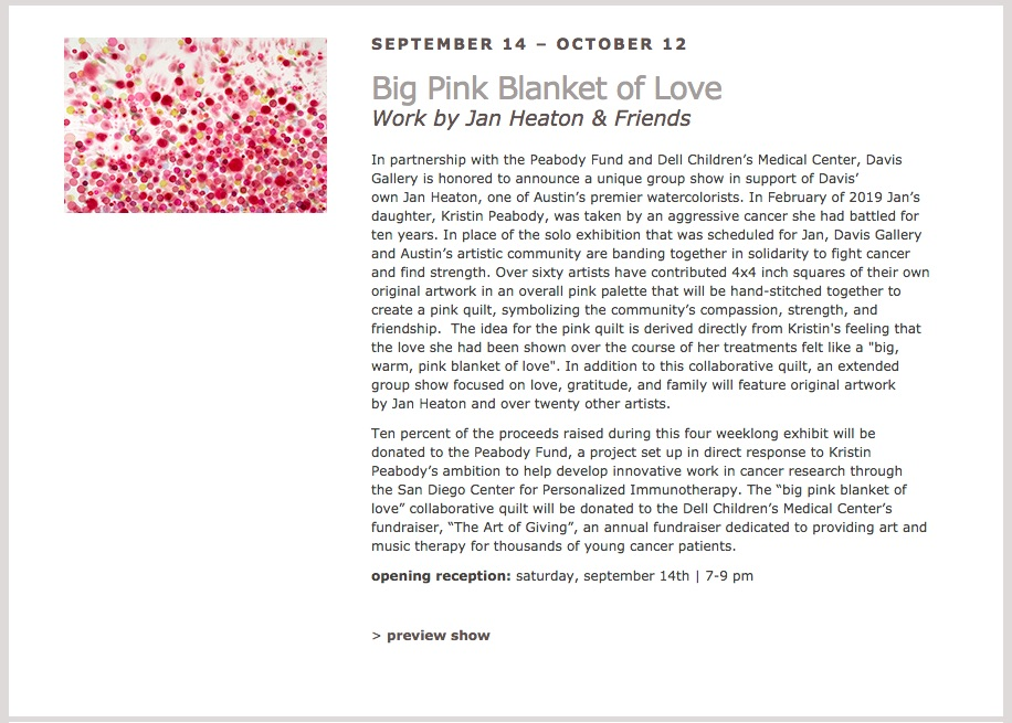 Snapshot from Davis Gallery    Exhibitions Page
