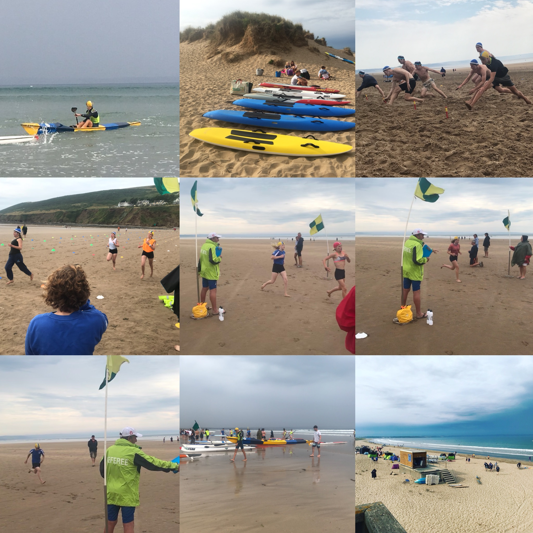 Some of our juniors competing at the Devon Surf Lifesaving Champtionships.