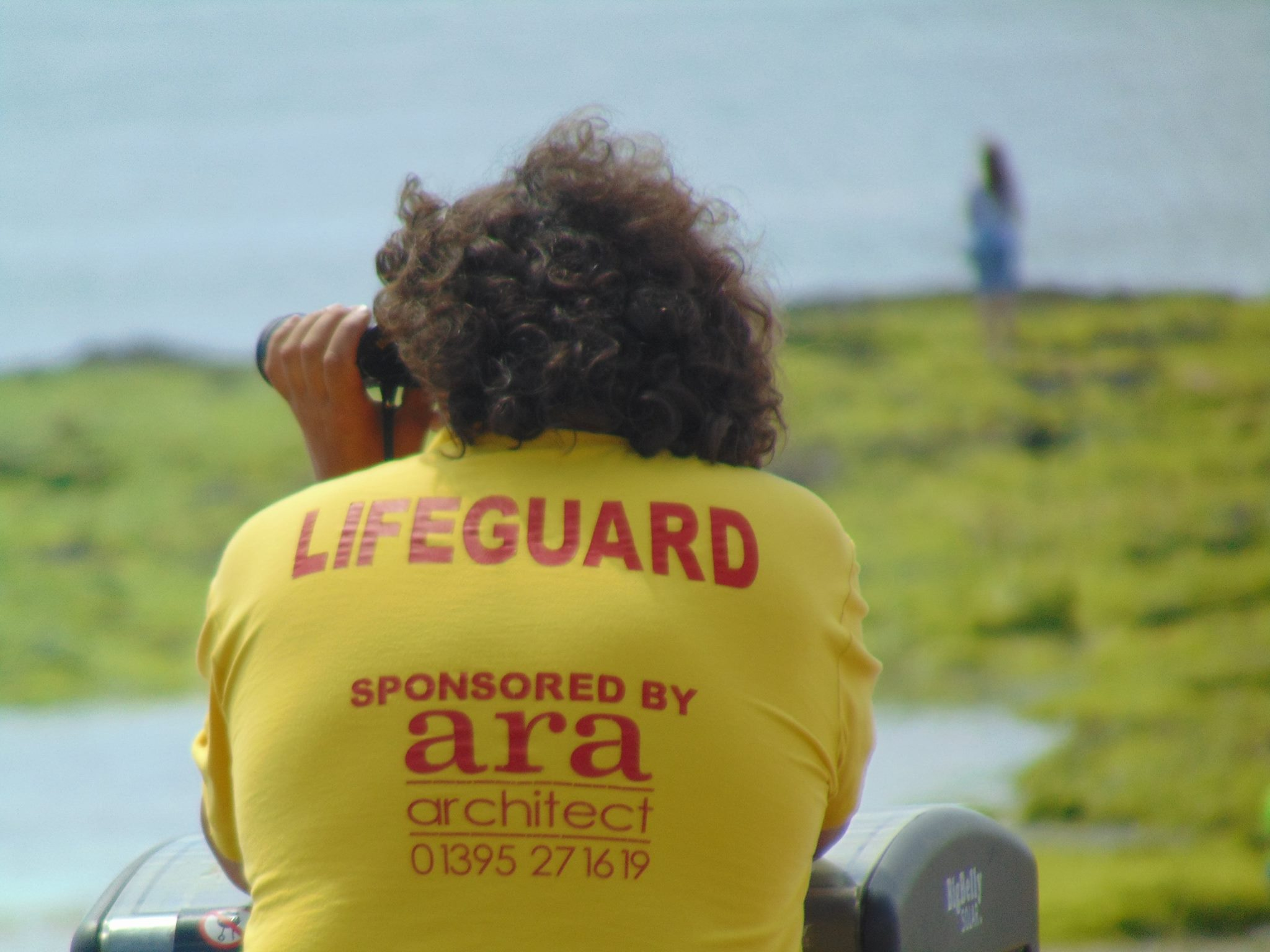 Lifeguard keeping watch.