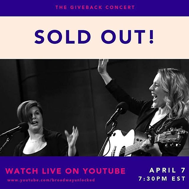 It's official: This year's @broadwayunlocked giveback concert is now SOLD OUT! 😍 Didn't get tickets? Fear not! You can still join us this Sunday, livestreamed on YouTube. Link in bio! . . . . #cvtcnyc #broadwayunlocked #cvtc #givebackconcert #liveonbroadway #sexualassaultawarenessmonth #playbill #broadway