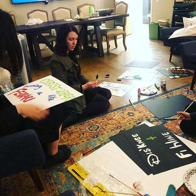 T-minus 3 days until the @nycmarathon. Our CVTC Junior Board & advocates were busy at work last night making posters for our 5 fabulous runners. There's still time to show your support for #TeamCVTC! Click link in bio to help them cross the finish line. . . . . . #nycmarathon #cvtc #charityrunner #supportsurvivors  #racedayready