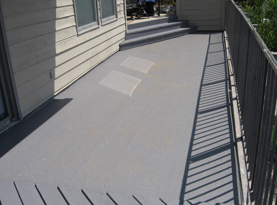 Reinforced deck coating in Orange, California