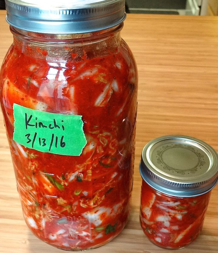 5. it didn't all fit into one jar but no big deal the little jar kimchi tasted just as good