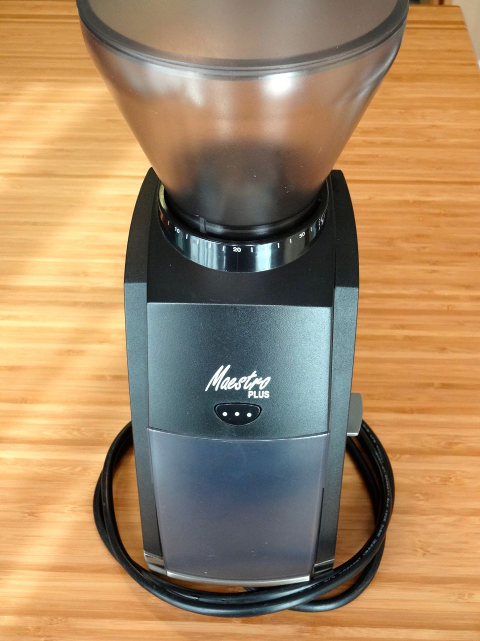 Burr grinder is nice to have