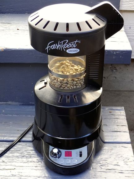 Simple home air roaster allowing for pretty good control
