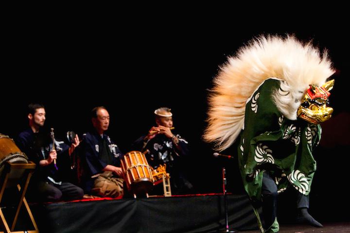 Eien Hunter-Ishikawa website shishimai lion dance at north american taiko conference kyosuke suzuki saburo mochizuki kenny endo