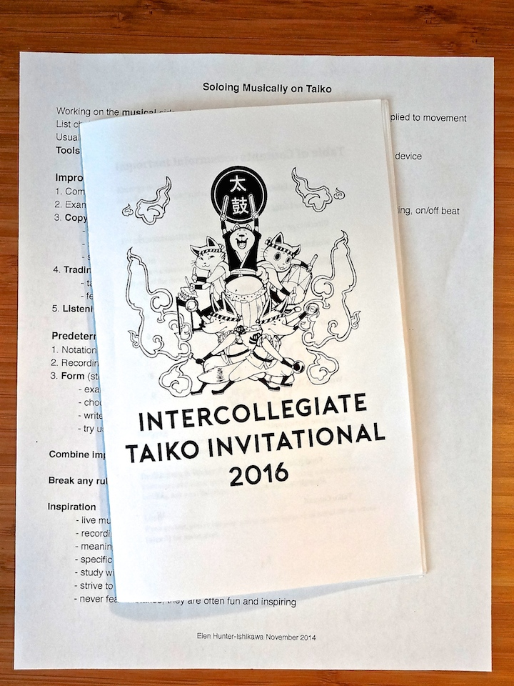 intercollegiate taiko invitational 2016