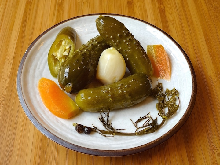 Delicious home-fermented dill pickles