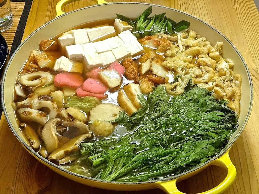 delicious nabe ready to eat