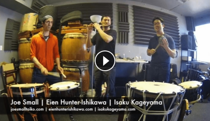 Impromptu Edo Bayashi jam with Isaku and Joe at their studio in Los Angeles, March 2017