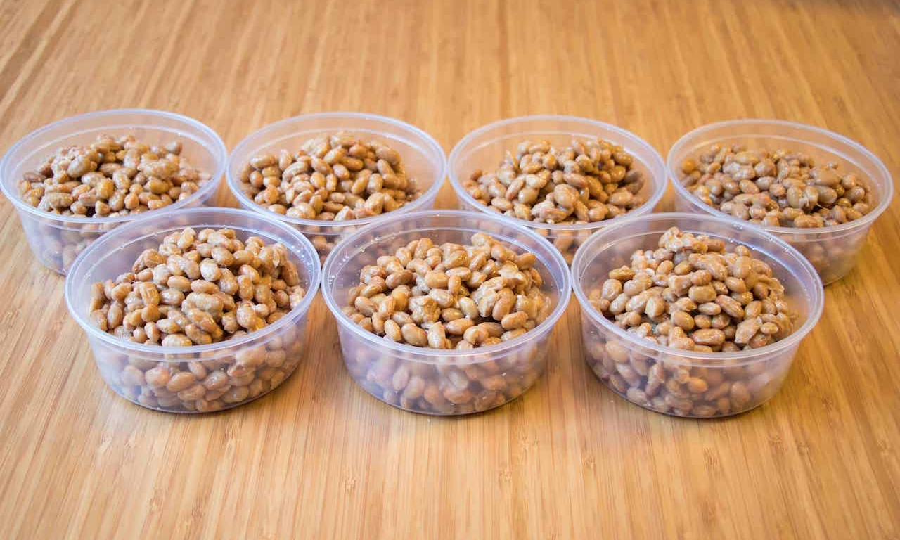 Natto in containers