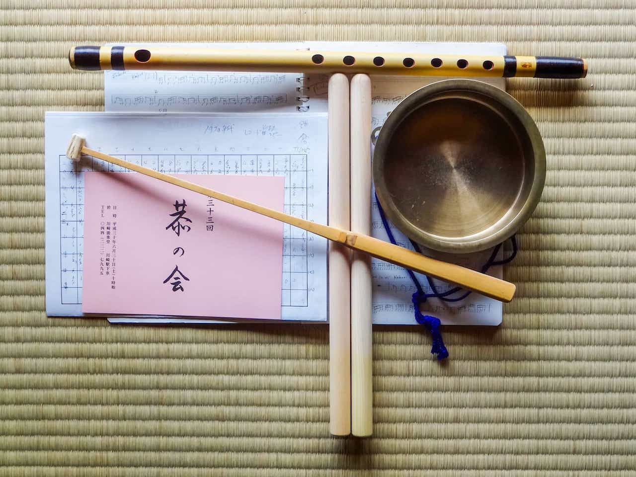 Edo Bayashi practice materials during my 2-week Tokyo intensive