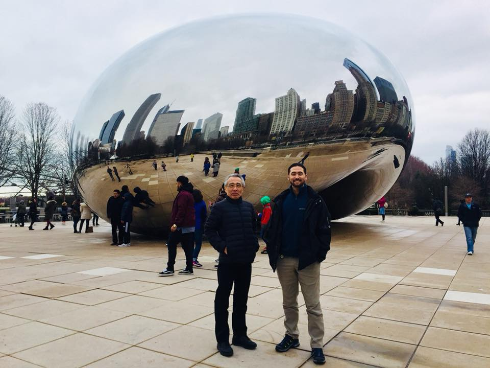"Suzuki sensei and Eien at ""the bean"" in Chicago"