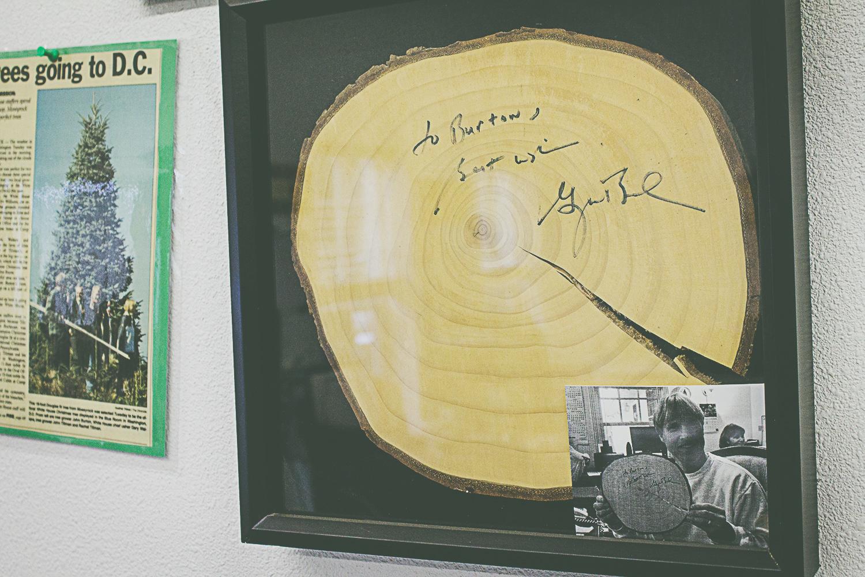 Fresh cut signed by President George W. Bush