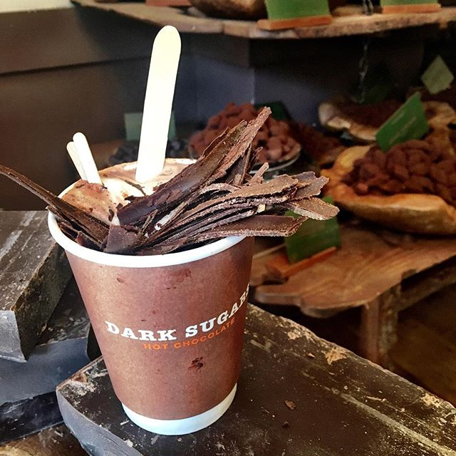 Chocolate shavings in my hot chocolate? Ok! @darksugars #london @rovouj #nomnom #foodie #chocolate @gavinajordan