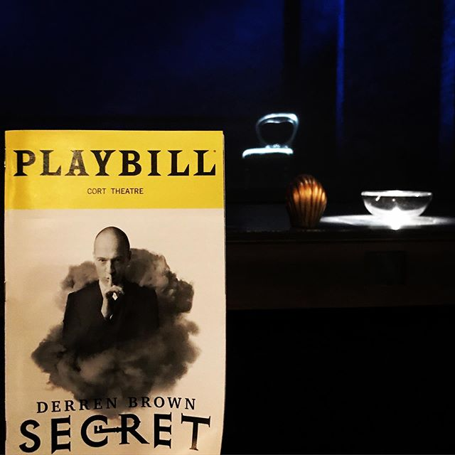 It's a Secret worth knowing, that's for sure! @derrenbrown, you amazed us today. Thanks to director/writer/producer Andrew O'Connor for introducing this magic to us #YorkHouse #flat18 @derrenbrownbway #derrenbrown #magic #illusion #nyc #london #broadway
