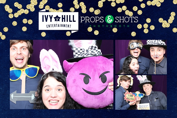 Sample photo booth shot. Props and Shots is Ivy Hill's preferred photo booth company.