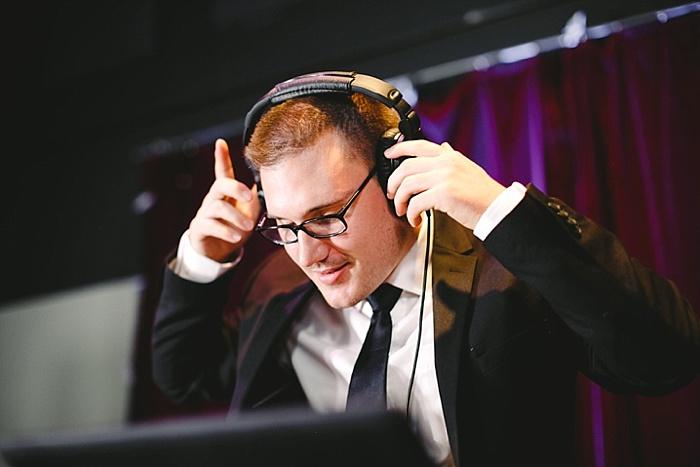 DJ Marshall playing music at an event
