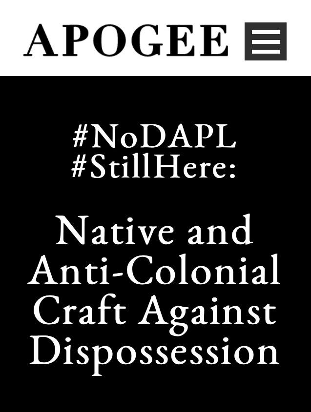 Apogee Journal #NoDAPL