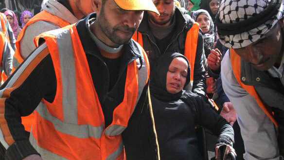 18,000 Palestinian refugees remain trapped in the Yarmouk neighbourhood of Damascus.  UNRWA USA