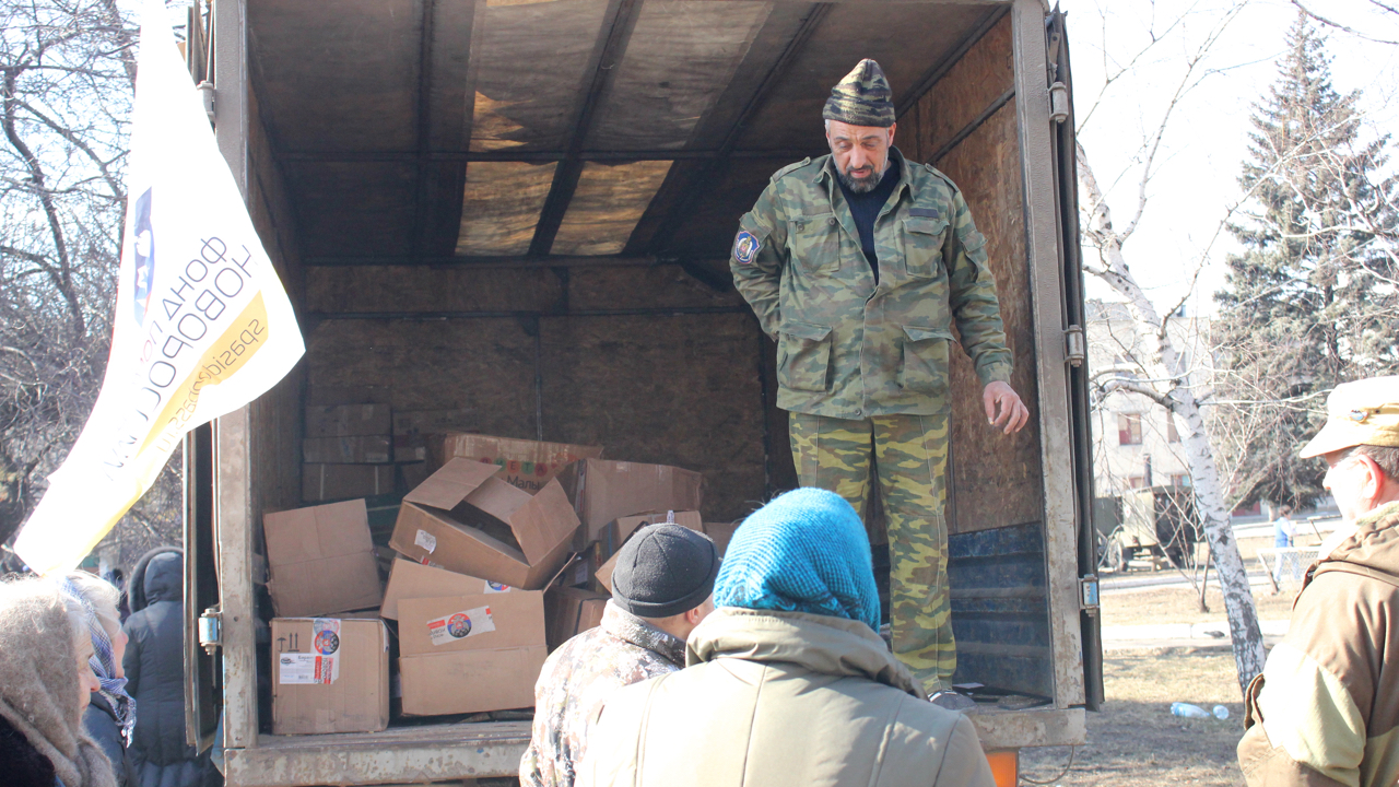Rebels have been distributing limited amounts of aid