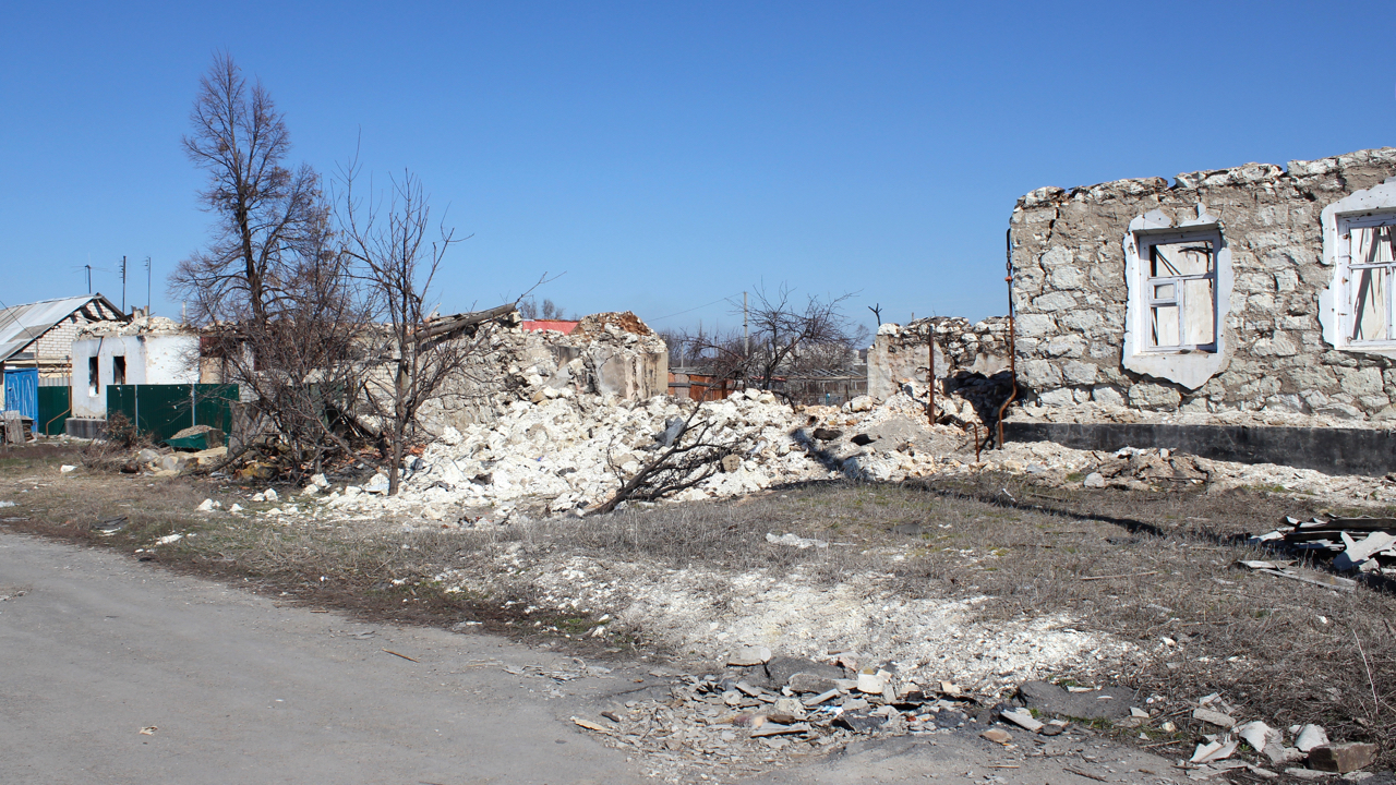 Novosvitlivka has been badly damaged by heavy shelling