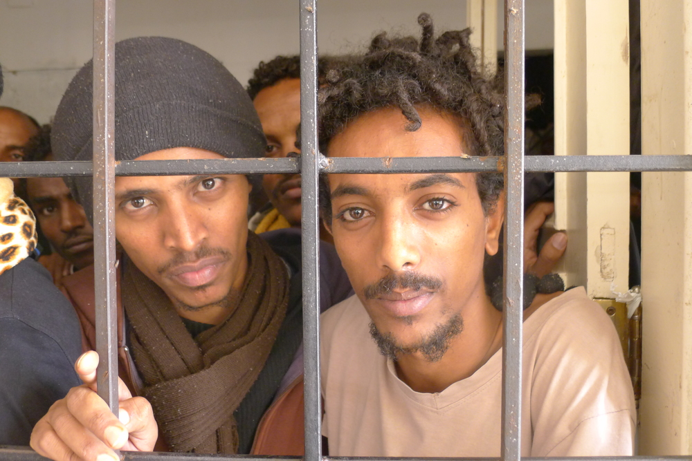 Emanuel and Jonata are held in a Libyan detention centre, they escaped indefinite military conscription in Eritrea.