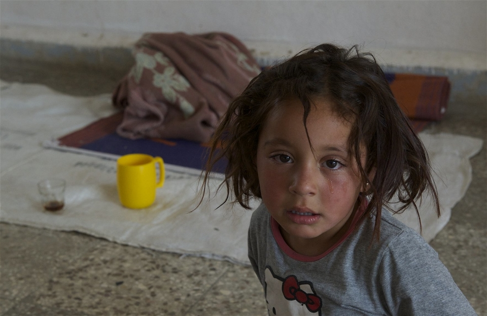 A child from the Hassakeh region of northern Syria displaced by the Islamic State (Martin Bader/IRIN)