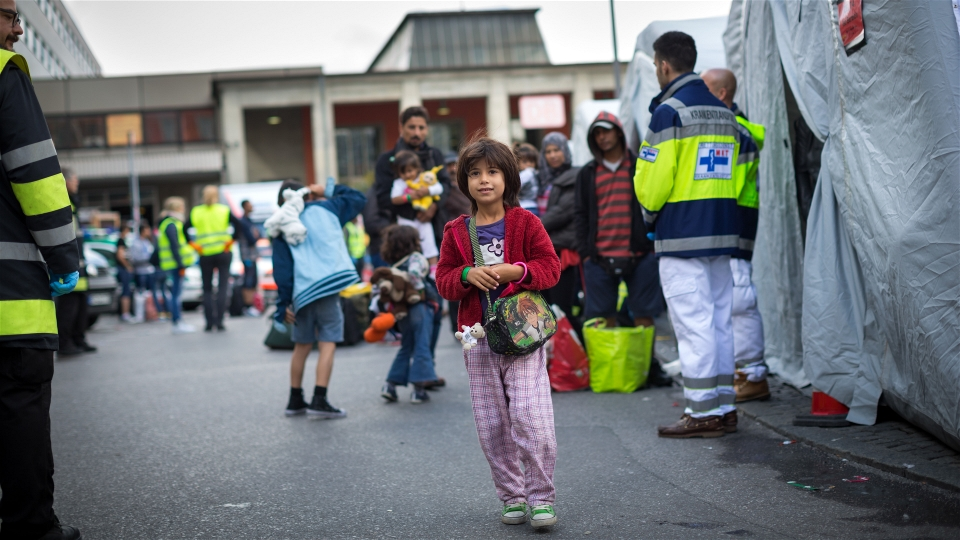 Thousands of refugees, mostly Syrians, arrived at Munich's central train station this weekend. They all need to be found accommodation (Gordon Welters/UNHCR)