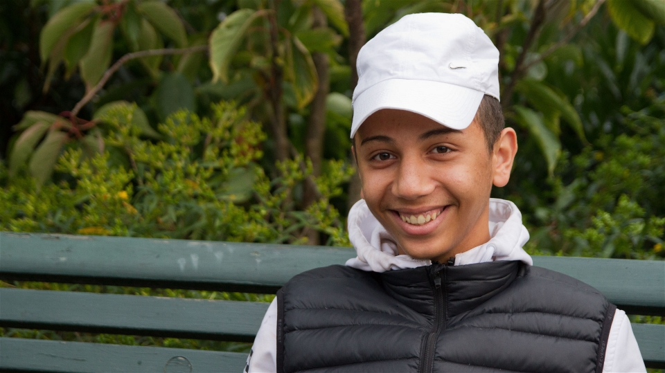 Amjad Ibrahim was only 13 when he left Syria and travelled to Sweden on his own (Sara Assarasson/IRIN)