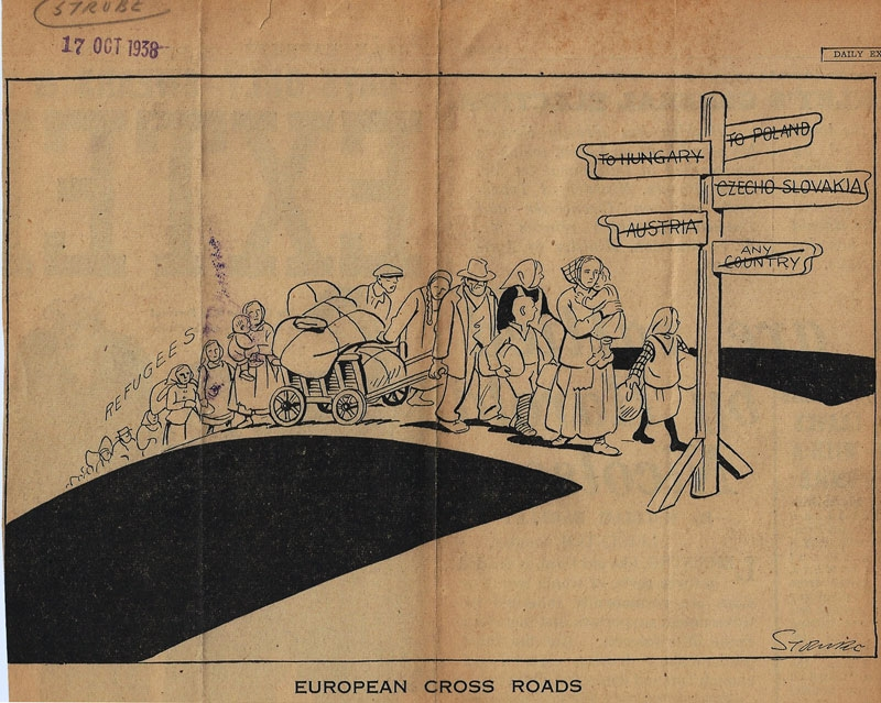 Cartoon published in 1938 by the Daily Express