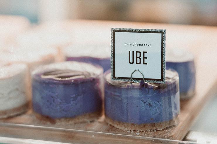 The famous ube cheesecake.    Photo by Auriza Ugalino.