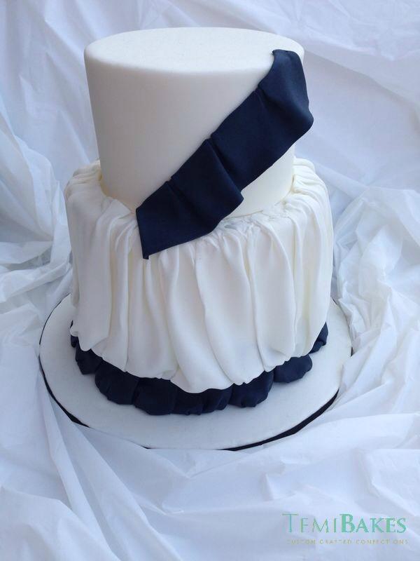 haute couture dress (bridal shower cake)