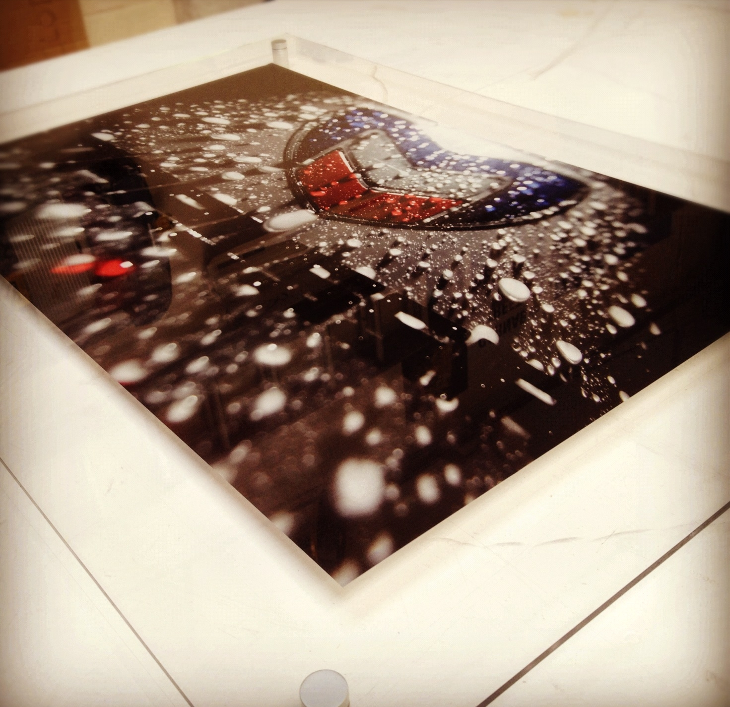 F1 acrylic sign with print