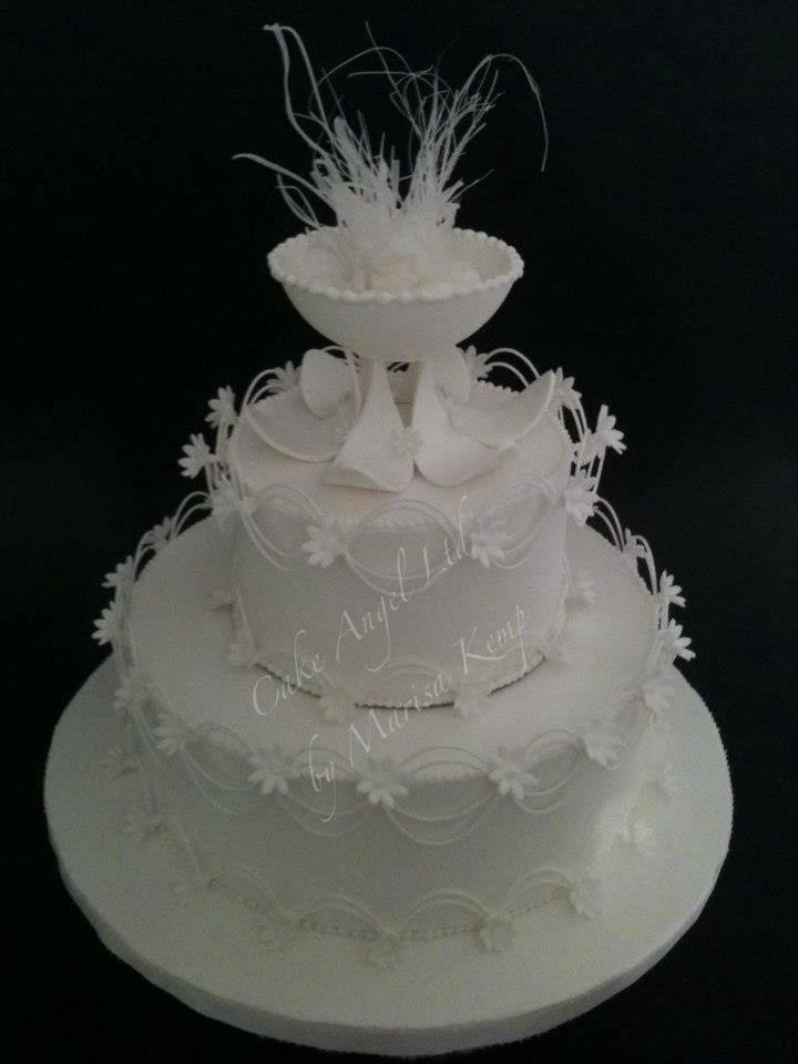 Royal Icing cake e pastillage and isomalt