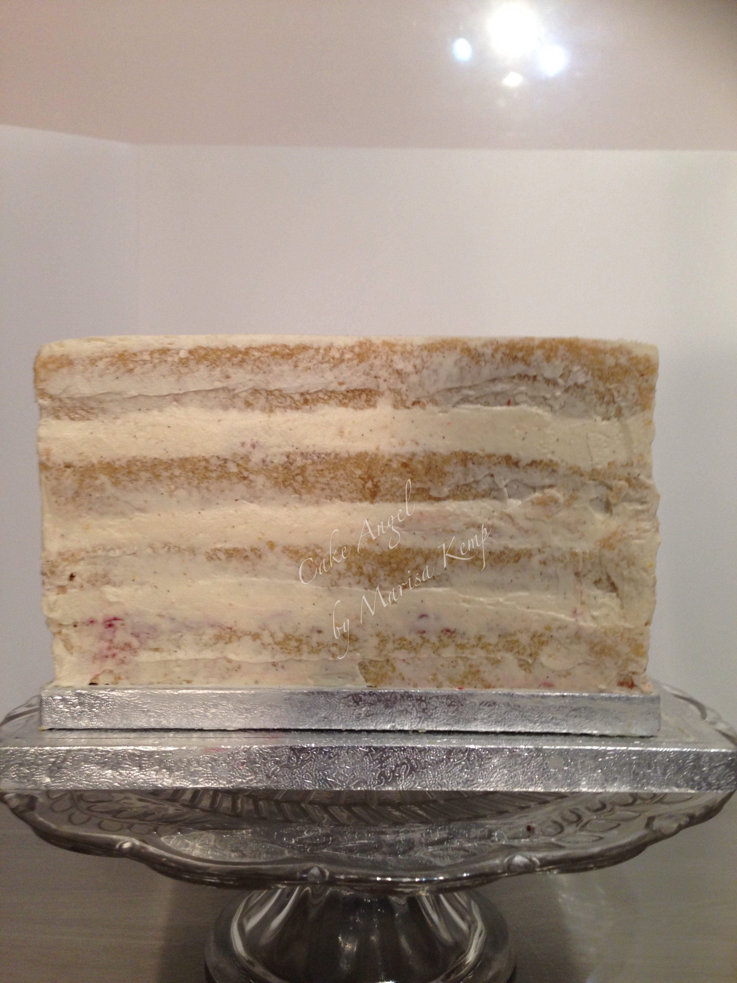 Madeira cake with vanilla butter frosting