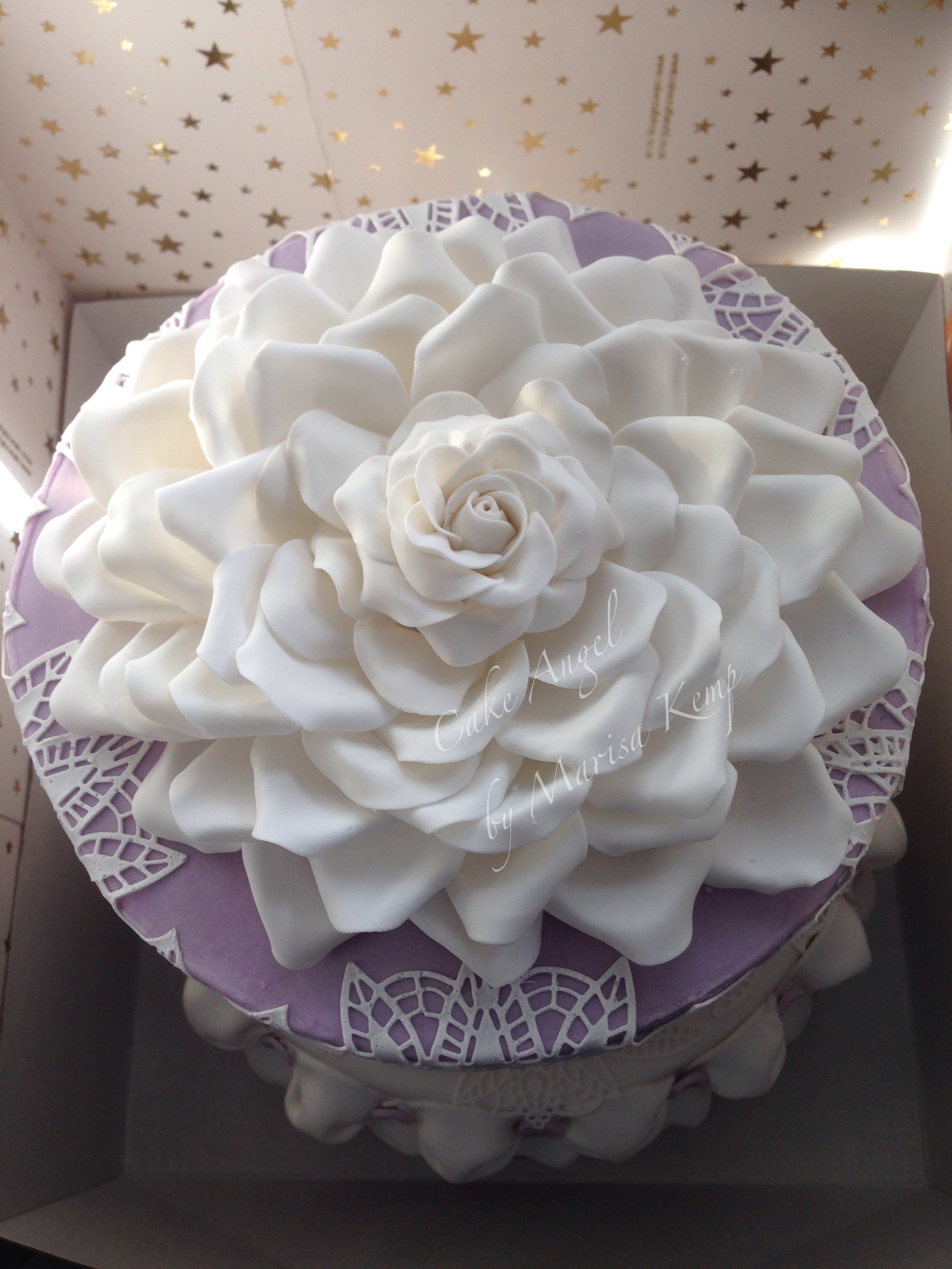 Large white rose topper