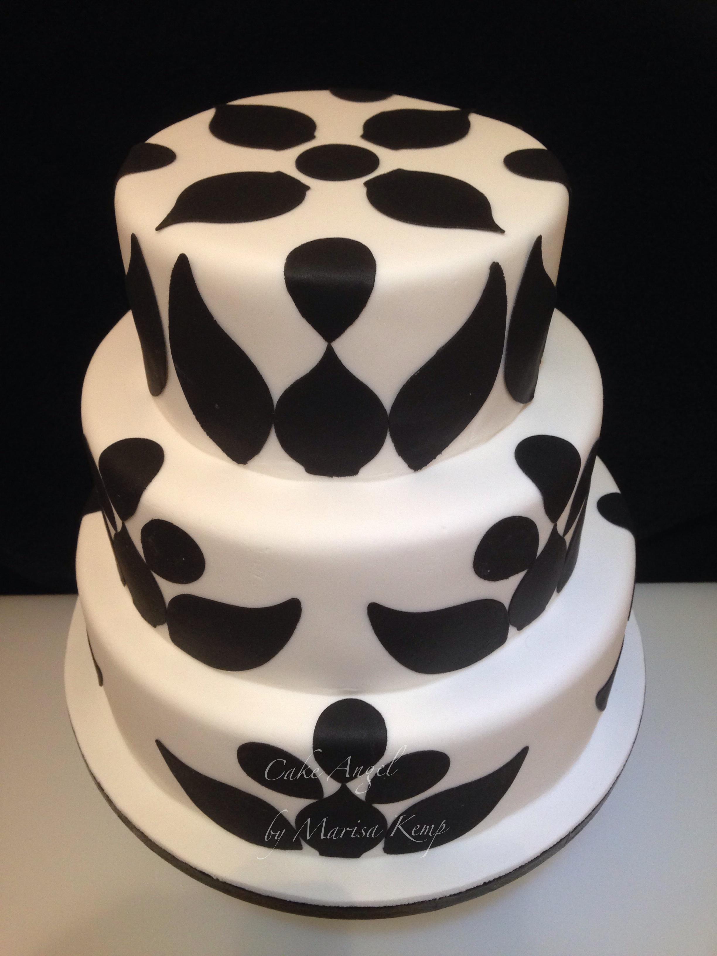 Silhouette celebration cake