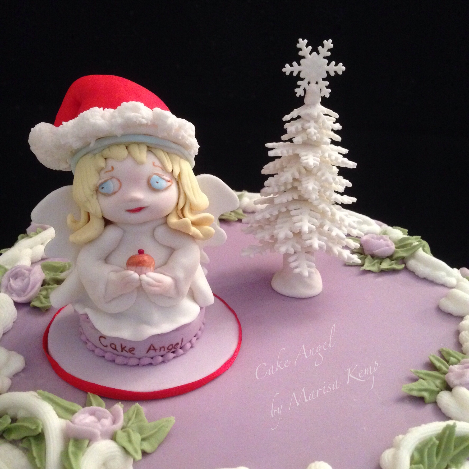 Cake Angel Christmas toppers