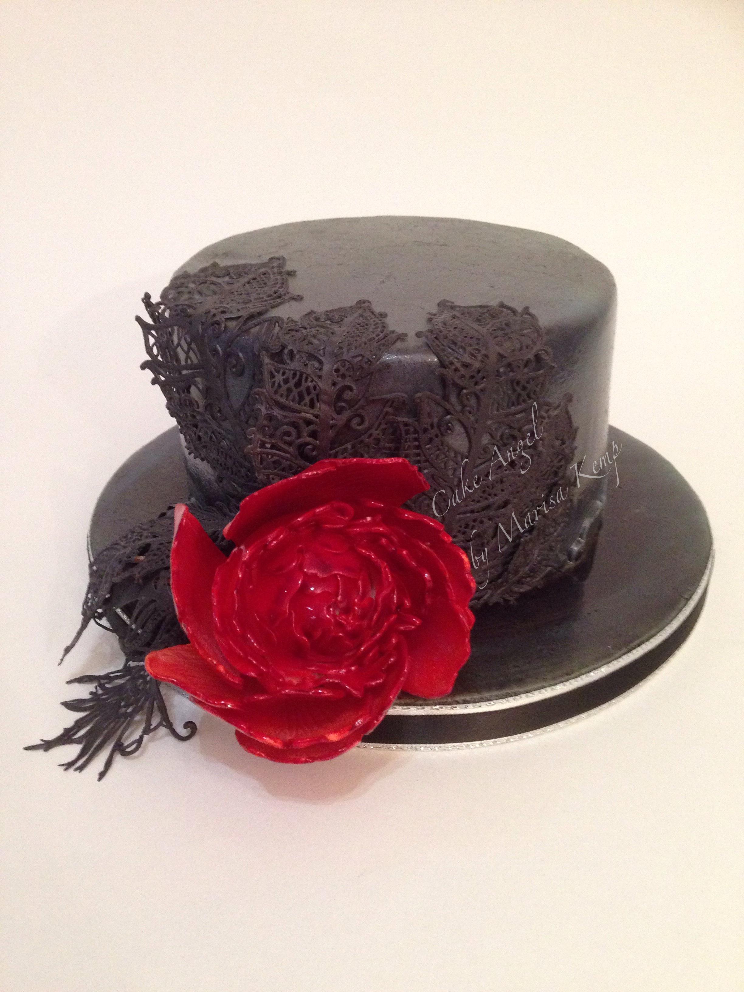 Steampunk hat cake
