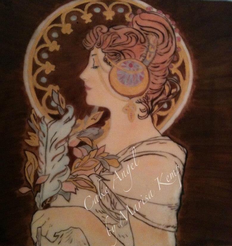 Art Nouveau (Mucha) painting