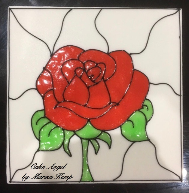 Stained Glass Effect using Piping Gel