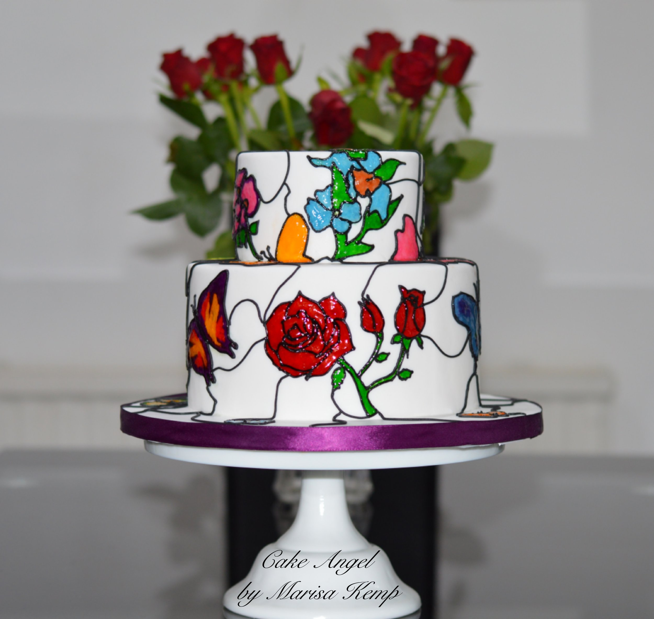 Stained Glass Effect Cake