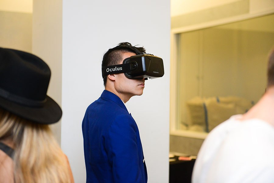 PARTY's Virtual Reality Pills explore the common feeling of motion sickness associated with the VR platform Oculus Rift. Photo via Architectural Digest.