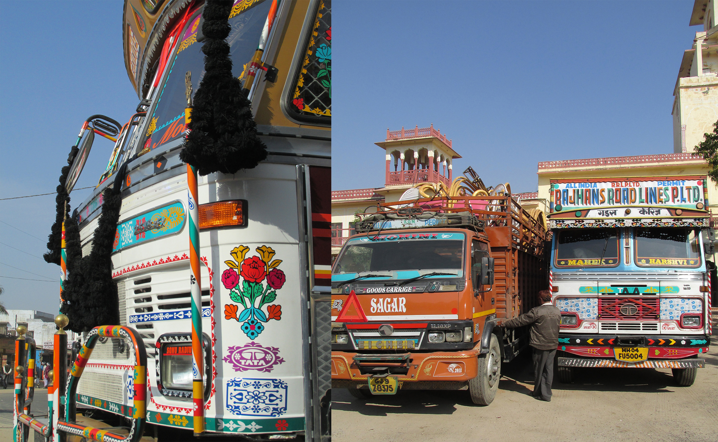 All trucks are very loud - in color and in sounds. Horns and beeping are welcomed