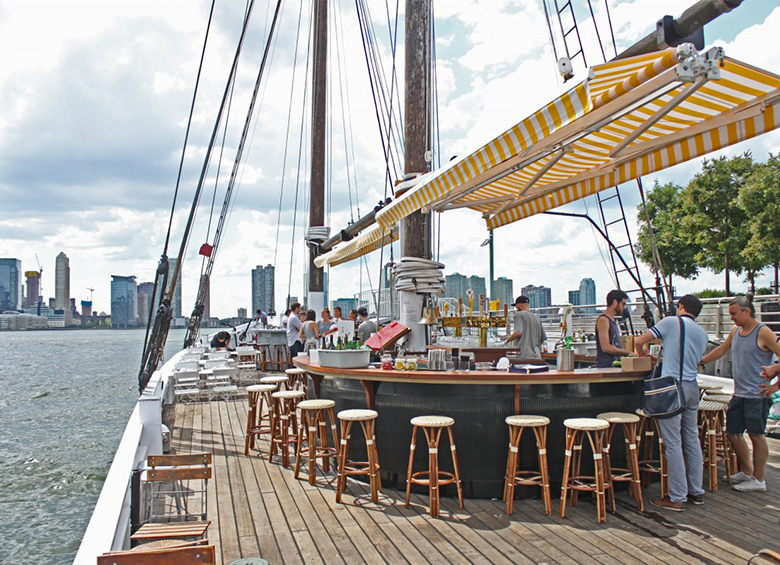 Grand Banks Oyster Bar/Boat; Tribeca NY