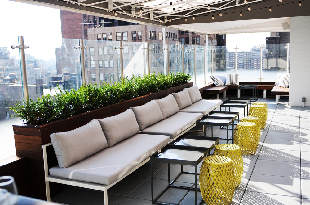 the Roofbar @Hotel Indigo Chelsea; Designed by yours truly.