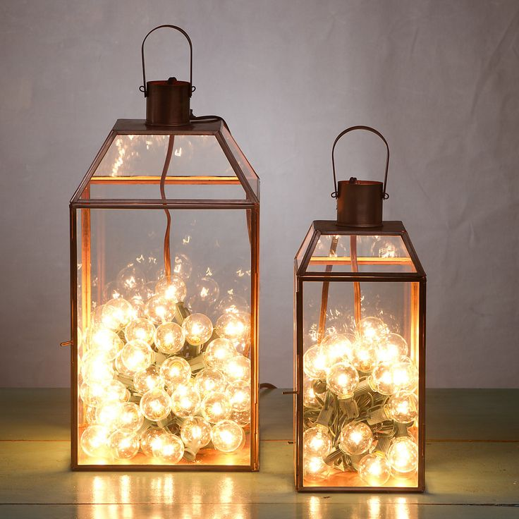 Utilize Festival lights in a lantern as an alternate to candles