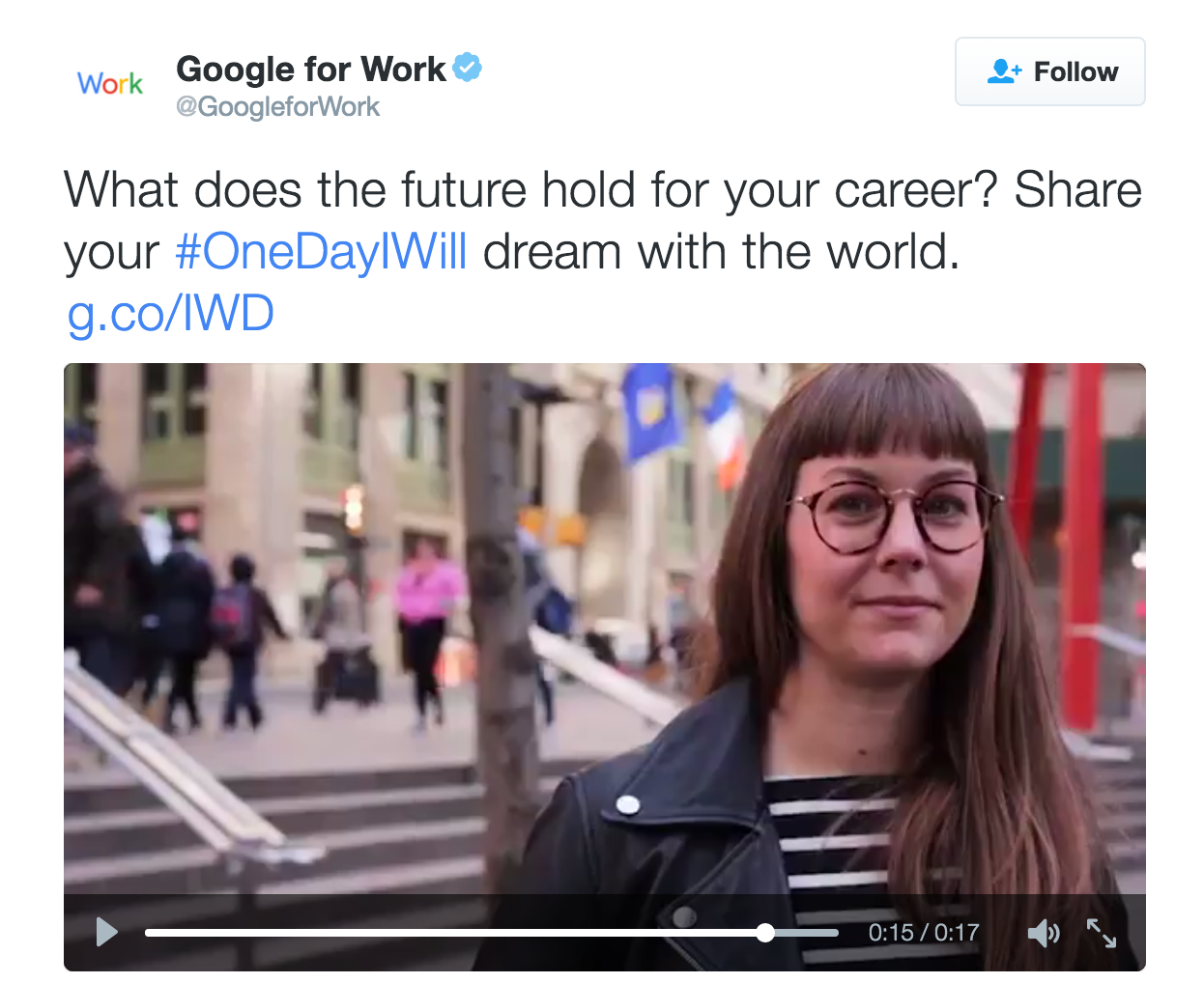 Lady Boss Founder + Director Tracy Candido sharing her #OneDayIWill dream with @GoogleforWork